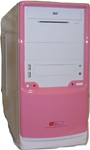 ATX Pink Fronted Case